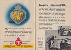 Wegenwacht-lid_oktober_1946 1 (Wouter Duijndam) Tags: oktober october 1946 anwb wegenwacht folder promotie kleuren jaren veertig 40 46 harleydavidson wla wlc hollandia zijspan beginjaren mooie hz83612 h24650 ford