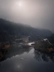 Mistic River (kiko_-46-) Tags: riosycascadas paisajes amaneceres landscape sunset animales forest birds fog aves export paisajesnaturales toledo españa es