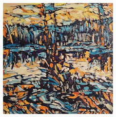 """Silver Lake 2018 12X12"""" oil on birch panel. (Tim Noonan) Tags: abstract canadian landscape painting art contemporary oil timnoonan"""