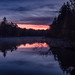 Similitude (b.adolphi) Tags: lake trees reflection sunrise sky purple dark light stuttgart pfaffensee germany clouds