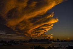 Celebrity Silhouette (robertjamesstarling) Tags: everglades port sunset clouds water sky sun infinity celebrity