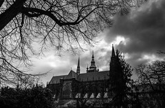 Prague-Castle-mono (Marc Bates Photography) Tags: bohemia czechrepublic mannerism prague praguecastle architecture baroque castle city europe european famous historic landmark tourism travel