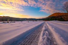 Sunrise at the Cornwall Valley (Photography by Lazlo) Tags: ifttt 500px winter snow blizzard frost snowdrift cold temperature frozen snowing cornwallvalley tire tracks flickr ice outdoors forest mountain