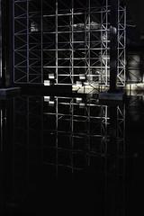 reflet (Rudy Pilarski) Tags: nikon nb bw monochrome reflet reflection réflection structure eau water paris city ciudad ville urbain urban urbano france francia europe europa architecture architectura architectural géométrie geometry gémétria géométrique lines ligne moderne abstract abstrait