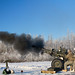 U.S. Paratroopers fire their M119 Howitzer certifying their capability to shoot accurately in a timely and safe manner