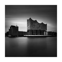 Singing (TS446Photo) Tags: nikon nikkor black white bnw monochrome mono germany hamburg zeiss longexposure long exposure fineart water clouds filter elbphilharmonie