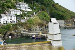 Crooked Pot (mark1830) Tags: polperro chimney pot harbour scene footpath coastal rooftop tiles wall boat fishing steps sea