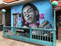 Joy by Osiris Rain (wiredforlego) Tags: graffiti mural streetart urbanart aerosolart publicart bushwick brooklyn newyork nyc osirisrain blue