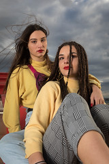 Charlotte & Inès (Claude Schildknecht) Tags: ad600pro alamercery beauty broncolor charlotte confluence europe family france girl inès lyon makeupartist makeup manfrotto maquillage maquilleuse marion model museum muséedesconfluences places shooting woman redlips
