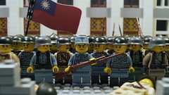 The Heroes of China (Force Movies Productions) Tags: lego war second sino japanese brickarms brickmania theminfigco cool chinese china eastern asia asian soldiers militarty minifig tyo toyphotography brickfilm animation film movie brickizimo wars weapons helmet republic rifles rifle gun guns collection kmt kuomintang bricks pose army sciene scene history faction macro youtube photography photo picture moc flag east oriental