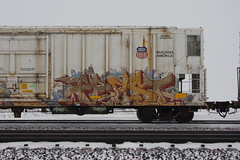 Frost (quiet-silence) Tags: graffiti graff freight fr8 train railroad railcar art frost laws ke armn reefer unionpacific armn725174
