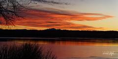 Sunset Looking Toward Pike's Peak (dcstep) Tags: dsc5471dxo sunset clouds pink sonya9 fe100400mmf4556gmoss allrightsreserved copyright2018davidcstephens handheld cherrycreekstatepark cherrycreekreservoir