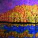 """Reflections"" by Cynthia B, acrylic, $45.00"