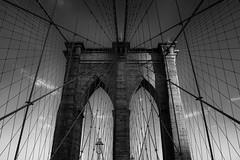 Brooklyn Bridge (piotr.mizera) Tags: raw blackwhite usa bw brooklynbridge monochrome nyc digital fuji newyork holiday2018 unitedstates blackandwhite fujifilm holiday