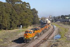 Z at Gateley (imartin92) Tags: pinole california bnsf railroad railway freight train ge generalelectric gevo dash9 c449w es44ac locomotive