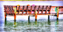 Thanks for the Memories ... (daystar297) Tags: pier waterfront fortpiercefl florida treasurecoast hutchinsonisland water colors reflections beautiful scene inlet nikon