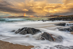 Rainbow at Traigh Bheag (The Small Beach), Isle of Harris, Scotland (MelvinNicholsonPhotography) Tags: traighbheag outerhebrides isleofharris harris scotland smallbeach sand waves taransay ocean rocks kelp rainbow