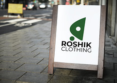 Roshik Clothing logo mockup (ismailrajib) Tags: ad advertisement advertising bar board britain business cafe cafeteria chalkboard commercial design dining display easel eat england english entrance europe european frame marketing message mockup offer outdoor poster promotion render restaurant shop signage signboard stand standee store template tiles uk