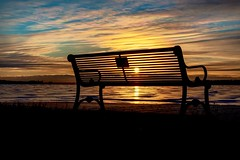 Sunrise and a place to sit (thecrazyphotographerguy) Tags: sunrise sun