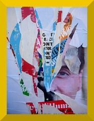 (Jean-Luc Léopoldi) Tags: affiche tableau peintureàlhuile politics oeil eye déchiré torn couches layers abstrait abstract