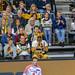 Fans der Deutschen Handballmannschaft sitzen auf Tribüne an Weltmeisterschaft 2019