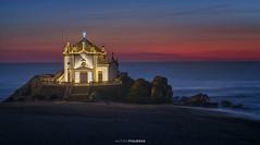 Senhor da Pedra (Antoni Figueras) Tags: oporto portugal senhordapedra vilanovadegaia chapel capela beach sunset sea illuminated longexposure europe atlantic ocean twilight sonya7rii sony70200f4 antonifigueras