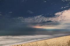 Sea & Sky2 - November 1st (renata_souza_e_souza) Tags: sky clouds night nightscape stars sea beach sand longexposure fuji xt20 waves lights citylights landscape brazil brasil macae rj pecado starry