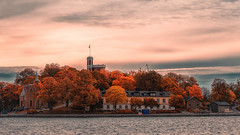 Stockholm (anderswetterstam) Tags: city fall harbor autumn seasons cityscape seascape buildings architecture trees sky clouds water sea landscape