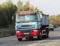 C H Bennett CX05 LNG on the A5 at Shrewsbury (Joshhowells27) Tags: lorry chbennett newtown daf cf dafcf tipper cx05lng