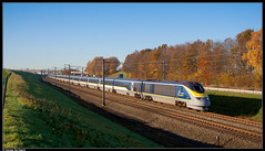 Eurostar 3205/3206 @ Rebecq (Steven De Haeck) Tags: rebecq brabantwallon waalsbrabant belgië belgique lijn1 eurostar london brussel bruxelles lgv hsl tmst class373 transmanchesupertrain e300 herfst