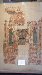 Colored ancient textile at Egypt's Egyptian Museum of Color (Kodak Agfa) Tags: egypt cairo egyptianmuseumofcairo emc cairomuseum buildings mideast middleeast travel museum archaeology egyptology northafrica africa mena place history المتحفالمصرى مصر