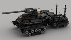 Scorpion Battle Tank (demitriusgaouette9991) Tags: lego military army ldd armored powerful deadly vehicle tank turret whitebackground cockpit railgun future lmg lasers