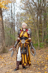 Diablo Monk (S1Price Lightworks) Tags: diablo monk blizzard video game cosplay cosplayer cosplays girl cosmaker canon eos sigma art 50mm fall 2018 autumn leaves foliage