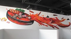 hotpot (instagram: wanghangart) Tags: graffiti street art wall hip hiphop mood red oil hot pot