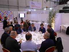Official lunch with Stéphane Udry and Jean-Paul Kneib (LASTRO EPF)