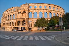 Not quite Abbey Road (ORIONSM) Tags: pula croatia arena sunset ampitheater architecture holiday vacation travel zebra crossing road beatles panasonic lumix tz100