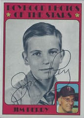 1972 Topps / Boyhood Photos of the Stars - Jim Perry #497 (Pitcher) - Autographed Baseball Card (Minnesota Twins) (Treasures from the Past) Tags: 1972 topps 1972topps baseball cards baseballcard vintage auto autograph graf graph graphed sign signed signature jimperry boyhoodphotosofthestars minnesotatwins pitcher