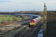 BioShed (JohnGreyTurner) Tags: br rail uk railway train transport diesel engine locomotive 66 class66 shed emd freight biomass hoppers brocklesby lincolnshire