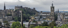 A View From Calton Hill (buddah1888) Tags: panorama edinburgh caltonhill scotland six princesst castle spires people tourists canon stitchmode edinburghcastle