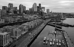 Downtown Aerial (cookinghamus) Tags: downtownseattle waterfront seattle downtown aerial