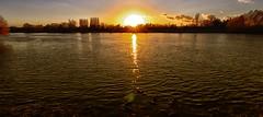 Sonnenuntergang (wernerfunk) Tags: sonne sun sky sunrise fluss river