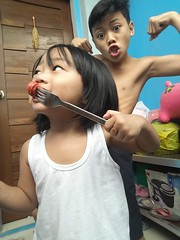 Herou and Jam :) (ghostgirl_Annver) Tags: asian boys brothers family fun eating happy muscle