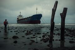 D68_1718 (brook1979) Tags: 海 貨輪 後厝港 桃園市 台灣 水 天 雲 ocean sea water taiwan