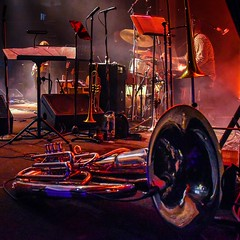 "Last Waltz Horns (tim.perdue) Tags: last waltz tribute band columbus ohio newport music hall ""the waltz"" band"" concert venue performance stage musician performer musical instrument lights nikon d5600 nikkor 18140mm horn section horns tuba trumpet brass trombone"