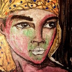 Sahara (franck.sastre) Tags: sahara colors art painting picture exhibition eyes lips beautiful