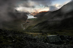 Warnscale, on the dark side. (PentlandPirate of the North) Tags: landscape warnscale lakedistrict buttermere england brexitland cloud bothy hut