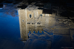 Reflective Tower 18.12.18-1 (Lee Myers - aka mido2k2) Tags: reflection reflect water london tower art arty explore nikon d7100 sigma 1750mm f28 different perspective daily winter wet cobbles old photography idea flag british