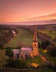 Sunset Over Duffield (Photo Lab by Ross Farnham) Tags: church goldenhour sunset duffield derbyshire mavicpro2 dji belper england unitedkingdom gb