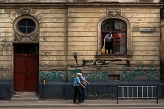 Woman with a broom (kmkozlov) Tags: lviv