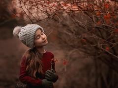 Wild Berries (agirygula) Tags: winter wintertime girl happy child children childhood wildberries nature natural wintersun canon 85mm